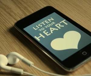 heart, music, and listen image