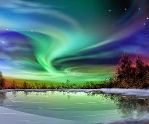 aurora, landscape, and nature image