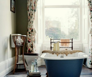 bathroom, vintage, and interior image