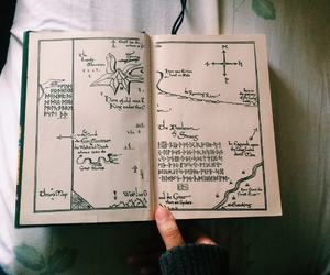 book, vintage, and map image