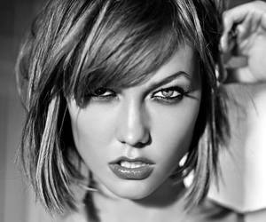 black and white, Karlie Kloss, and Victoria's Secret image