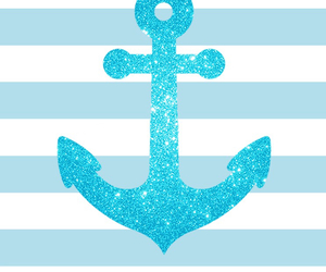 blue, anchor, and wallpaper image