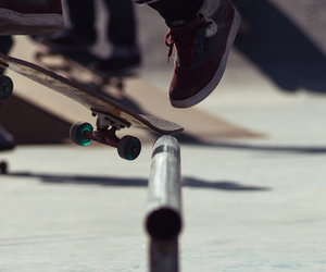 skate, skateboard, and photography image