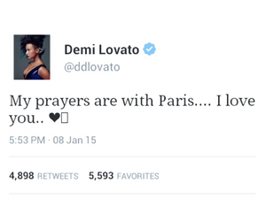 demi lovato, france, and je suis charlie image