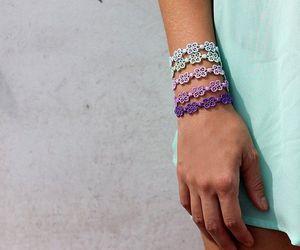 bracelet, flower, and cruciani image
