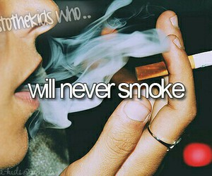 smoke, herestothekidswho, and never image