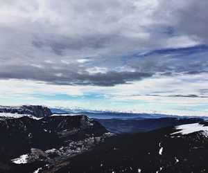 grunge, mountains, and sky image