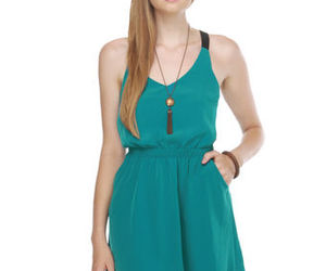 dress, cute, and teal image
