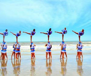 cheerleader, beach, and cheer image