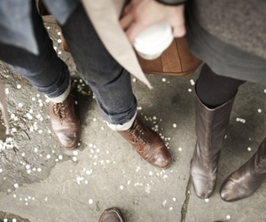 boots, couple, and style image