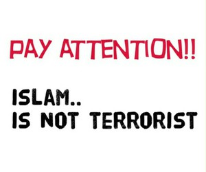 islam and terrorist image
