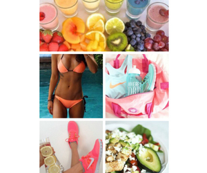 fitness, fruit, and goals image