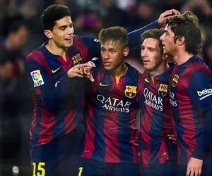 neymar, messi, and fc barcelona image