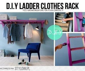 diy, ladder, and clothes image