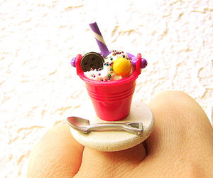 candy, icecream, and ring image