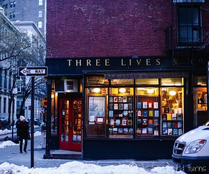bookstore, corner, and new york image