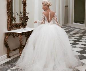 wedding, dress, and wedding dress image
