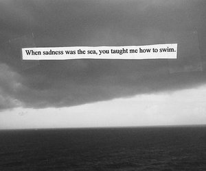 quotes, sadness, and sea image