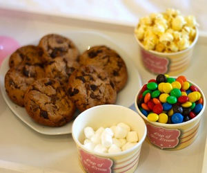 Cookies, popcorn, and food image