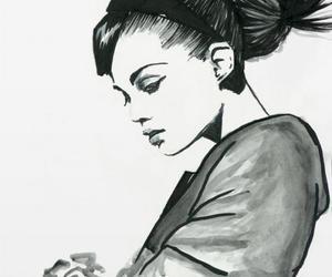 girl and desenho image