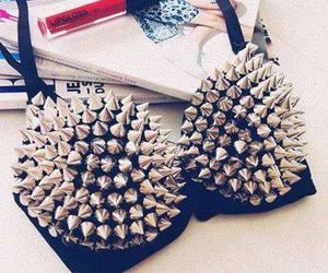 fashion, bra, and studs image