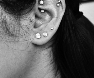 pretty, rook, and ear piercings image
