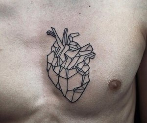 boy, tattoo, and heart image