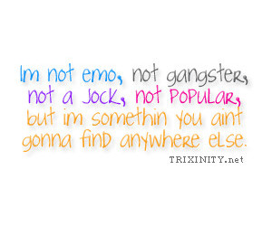 emo, gangster, and popular image