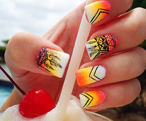 Dream, nails, and orange image
