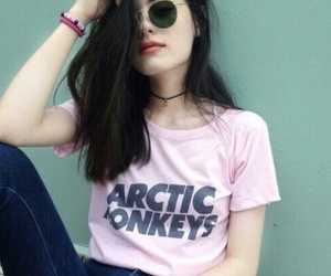 girl, arctic monkeys, and grunge image