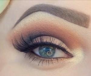 brown, eye shadow, and eyeliner image