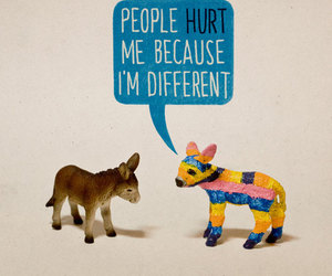 different, hurt, and donkey image