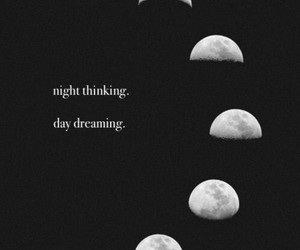 daydreaming, life, and moon image
