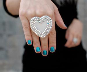 ring, heart, and nails image