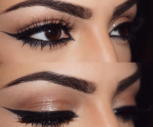 eyeliner, make up, and eyebrows image