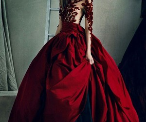 dress, red, and model image