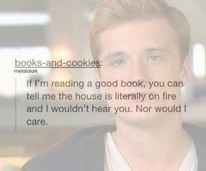 books, catching fire, and quote image