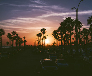 sunset, car, and summer image