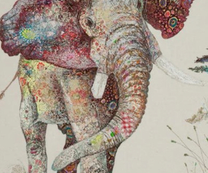 art, beauty, and elephant image