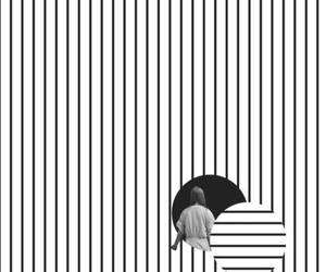 black & white, patterns, and wallpaper image