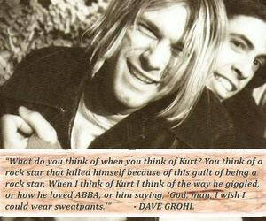 dave grohl, kurt cobain, and nirvana image