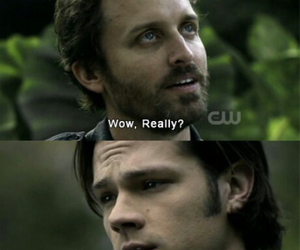 supernatural, chuck, and sam winchester image