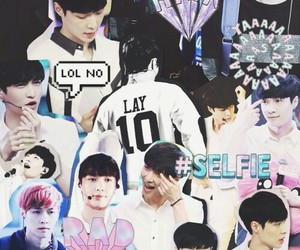 exo, lay, and Collage image