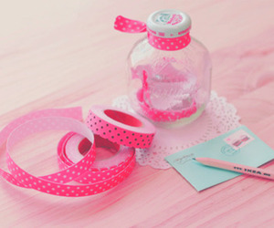 pink, cute, and jar image