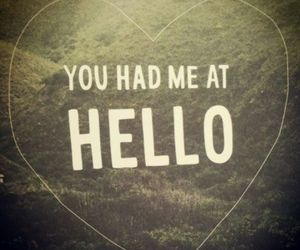 hello, love, and quote image
