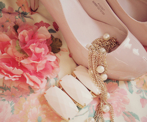 girly, pink, and vintage image