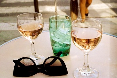 drink and sunglasses image
