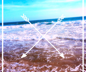 arrow, beach, and california image