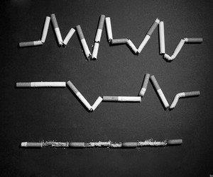 cigarette, smoke, and life image