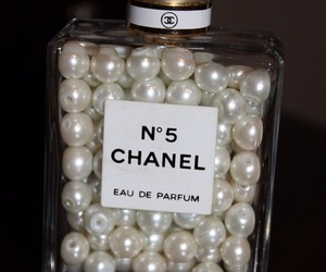 chanel, pearls, and perfume image